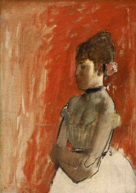 Degas, Edgar: Ballet Dancer with Arms Crossed. Fine Art Print/Poster. Sizes: A4/A3/A2/A1 (003737)